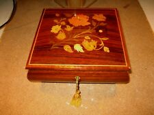 "Darling Lacquered Inlaid Jewelry Music Box Plays ""Misty"""