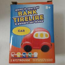 Car Ceramic Bank Painting Set Kids Paints and Paint Brush Arts & Crafts