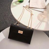 British Simple Small Square Bag Women Designer Handbag PU Leather Chain Mobile