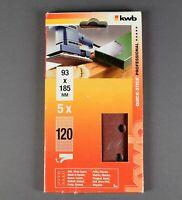 kwb Schwingschleifer Schleifstreifen 93 x 185 mm 5 Stück - Körnung 120
