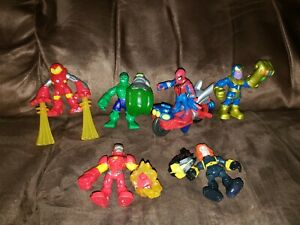 Imaginext Fisher Price Marvel Super Hero Lot 6 Figures Hulk Thanos Spiderman