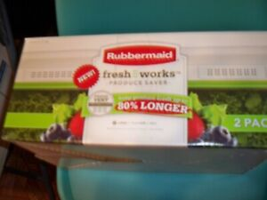2 Pack Rubbermaid Fresh Works Produce Saver