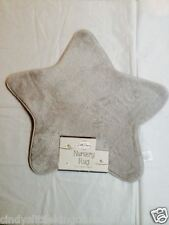 NUOVO Little Dreams Baby Supersoft SOFFICI STAR SHAPED Nursery RUG CARPET materassino grigio