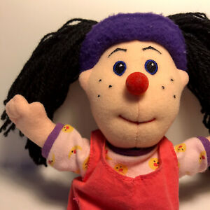 """VTG Big Comfy Couch 1997 Loonette Doll Pink Dress Plush Commonwealth 9"""""""