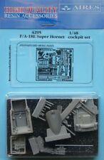 AIRES 1/48 F/A-18E Super Hornet Set CABINA DI PILOTAGGIO PER Hasegawa Kit #4295