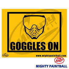 Paintball Safety Sign - Goggles On (Mp-Fe-S004)