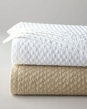 WHITE HOUNDSTOOTH Full Queen QUILT SET : SNOW COTTON COTTAGE DIAMOND COVERLET