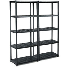 2 Pieces 5-Tier Storage Shelves Freestanding Heavy Duty Rack 36�L X 18�W X 73�H