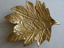 Large  Metal Leaf Decorative Trinket Tray