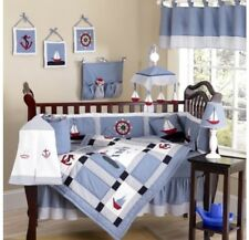 New Nautical crib bedding set (9pieces)