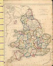 c1815 MAP ~ ENGLAND & WALES ~ YORK SALOP SURREYSUSSEX KENT etc HAND COLOURED