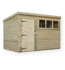 10x6 garden shed shiplap pent shed tanalised windows pressure treated door left - Garden Sheds 10 X 6
