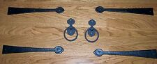 Garage Door Decorative Kit HEAVY IRON  4 Hinges with 2 Iron Pull Handles-NICE!