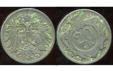 AUTRICHE  20 heller 1895   ( bis )