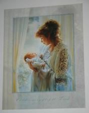 Sandra Kuck GOD'S GIFT - 14x11 Frameable Moments art print NEW BABY Mother