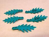 Lego 5 Baumblätter 3 x 8 Blatt Tanne Tree 6,5 x 2,8 cm Garten Stadt City Neu