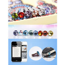 3PCS Headphone Anti-Dust Plug Cap Crystal Jewelry For 3.5mm Jack Smartphone