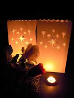 100 x Stars White Candle Paper Bag Lantern Wedding Path Outdoor decor BULK BUY