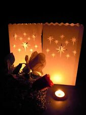 30 Night Stars White Candle Bag Lantern Garden Party Path Deck Balconey Luminara