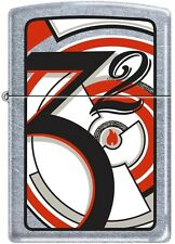 Zippo Art Deco 1932 Brushed Chrome Windproof Lighter RARE, 2006 Catalog, 21010