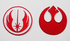 """STAR WARS """"JEDI ORDER"""" & """"REBEL ALLIANCE"""" Embroidered Iron-On Patch Set - NEW"""