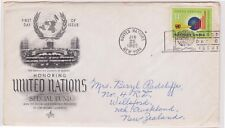 (K81-2) 1965 UN FDC 11c Honouring UN special fund used (B)