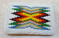 NICE HAND CRAFTED FULLY BEADED GEOMETRIC DES. NATIVE AMERICAN INDIAN BELT BUCKLE