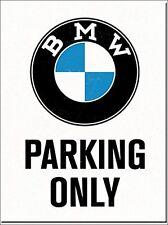 BMW Parking Only steel fridge magnet (na)