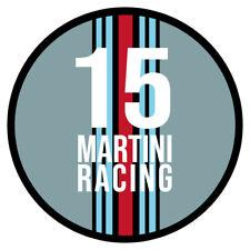 Aufkleber Martini Racing 12x12cm matt