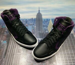 Converse Weapon Mid Top Leather Larry Bird Black/Purple Size 10.5 144544c Rare