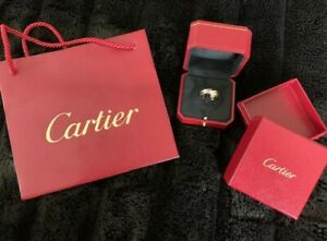 Cartier Diamond Rolling Ring 18K Tri Color Gold Size 8.75 (Cartier 59)