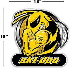 """(SKI-2) 18"""" SKI-DOO SKIDOO BEE DECAL FOR WINDOW / WALL ARTIC CAT MXZ POLARIS X"""