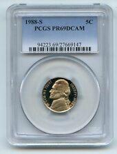 1988 S 5C Jefferson Nickel Proof PCGS PR69DCAM