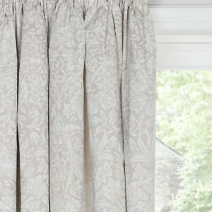 Morris & Co. Strawberry Thief Lined Pencil Pleat Curtains Natural W168 D228cm