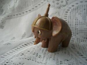 Vintage Bakelite Tudor Rose England Toy Elephant Push Button Moving Ears