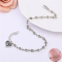 Sandal Bracelet Barefoot Silver Foot Jewelry Plated Ankle Beach Chain Anklet