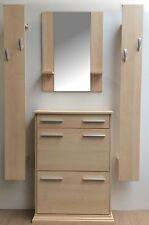 Garderobenset Flur Garderobe Dielenmöbel Ahorn Schuhschrank Spiegel