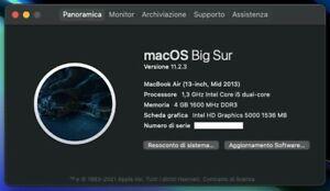 """Apple MacBook Air 13"""" (128GB SSD, Intel Core i5 4.ª generazione, 1.3 GHz, 4GB)"""