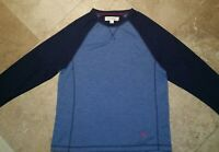 Tommy Bahama Crew Neck Pullover Lightweight Sweater Polyester Blend Blue M