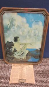 Maxfield Parrish Framed Print Air Castles Bubbles Picture