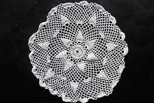Vintage off-white crochet doily.