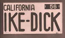 Eisenhower Nixon California Bumper Sticker