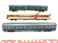 BG794-1# 3x Roco H0/DC Bastler-Personenwagen/Gepäckwagen NEM: DB + Tui Treff