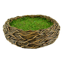 Miniature Dollhouse FAIRY GARDEN - Birds Nest Container - Accessories