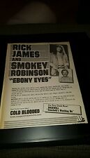 Rick James Smokey Robinson Ebony Eyes Rare Original Promo Poster Ad Framed!