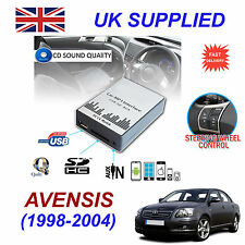 For Toyota Avensis MP3 SD USB CD AUX Input Audio Adapter CD Changer Module 5+7pn