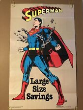 Superman Vintage Poster Pin-up Cartoon Superhero TV Movie Memorabilia DC Comics