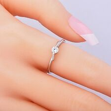 fashion White Gold Filled Womens Clear CZ Ring jewelry Size 6