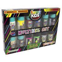 Funny Kids Multimix | Acrylfarben Set für Kinder auf Wasserbasis | 12 x 20 ML