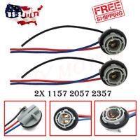 2X 1157 Turn Light Brake Bulb Socket Connector Wire Harness Plug For LED Bulbs